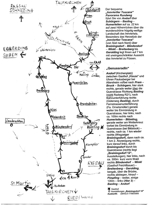 Karte vom Rundweg zum Herunterladen und Ausdrucken